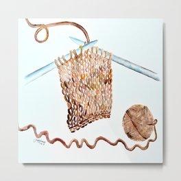 Crochet Metal Print