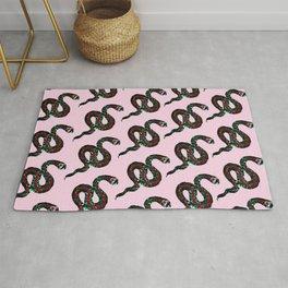 Snake Print Pink Rug