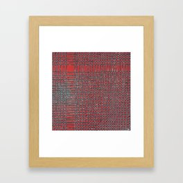 Left - Red and turquoise Framed Art Print