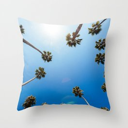 Palm Trees in Los Angeles Throw Pillow