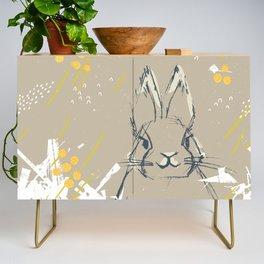 Bunny Portrait M+M Latte by Friztin Credenza