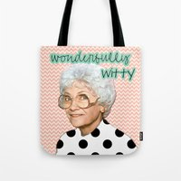 golden girls Tote Bags featuring Golden Girls - Sophia by courtneeeee