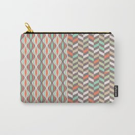 Bicolore Vintage Pattern Carry-All Pouch