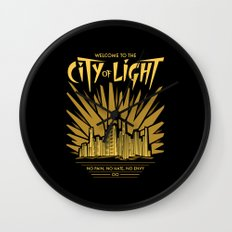 Welcome to the City of Light Wall Clock