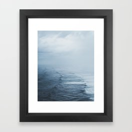 Storms over the Pacific Ocean Framed Art Print