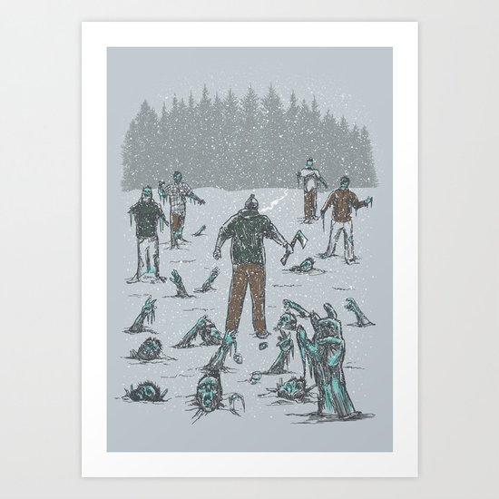 Frozen Tundra Art Print