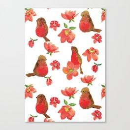 Hello Robin - White Version Canvas Print