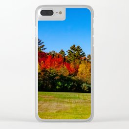 Fall in New England. USA. Clear iPhone Case