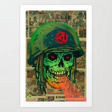 45 Death Soldier Art Print