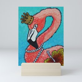 Flamingo King Mini Art Print