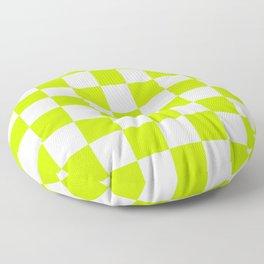 Checker (Lime/White) Floor Pillow