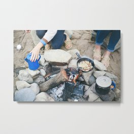 Over the Fire Metal Print