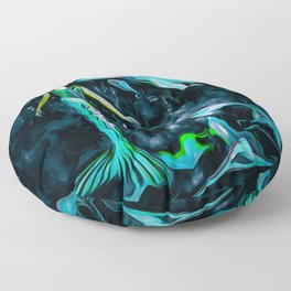 Dolphins Are A Mermaids Best Friend Floor Pillow