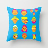 moonrise kingdom Throw Pillows featuring Moonrise Kingdom by Brittany Metz
