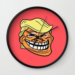Trollin' Trump Wall Clock