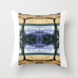Woody and Big Tree Throw Pillow