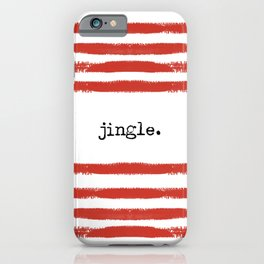 red stripes-jingle iPhone Case