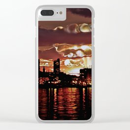 Angry Sunset. Clear iPhone Case