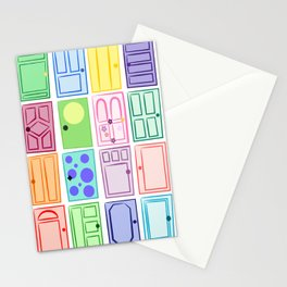 Monster's Inc. Doors Stationery Cards