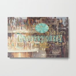 Confectionary Windo Shopping Metal Print