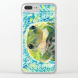 It's Not Easy Being Green Clear iPhone Case