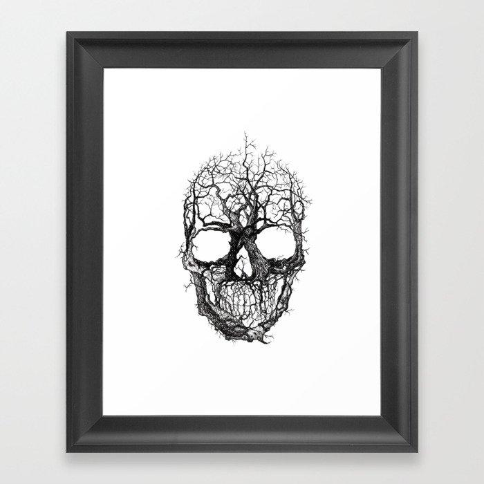 Tree Skull Gerahmter Kunstdruck