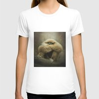 study T-shirts featuring Study of a Gibbon - The Thinker by Pauline Fowler ( Polly470 )