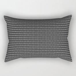 Bogolan Black & White Rectangular Pillow