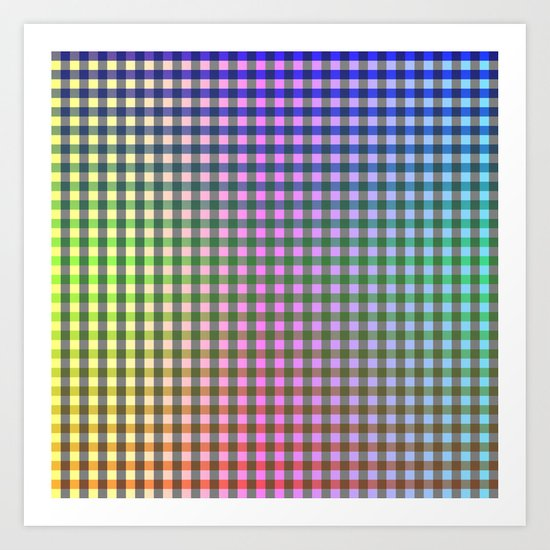 Gingham - Multicolored Art Print