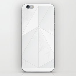 white verticals iPhone Skin