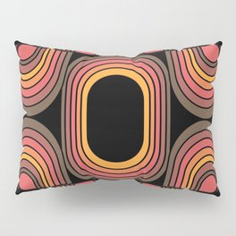Desert Blaze Retro 70s geometric flower Pillow Sham
