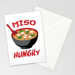 Miso Hungry - Funny Food Puns Stationery Cards
