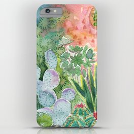 Cactus in the Moonlight Watercolor iPhone Case