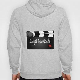 Illegal Downloads Clapperboard Hoody