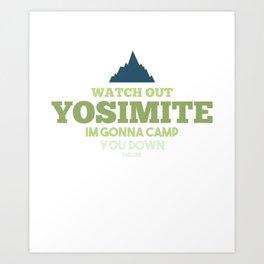 Camping Adventure Wilderness Tourism tent Art Print
