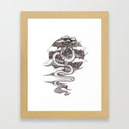 Sky Dragon Framed Art Print
