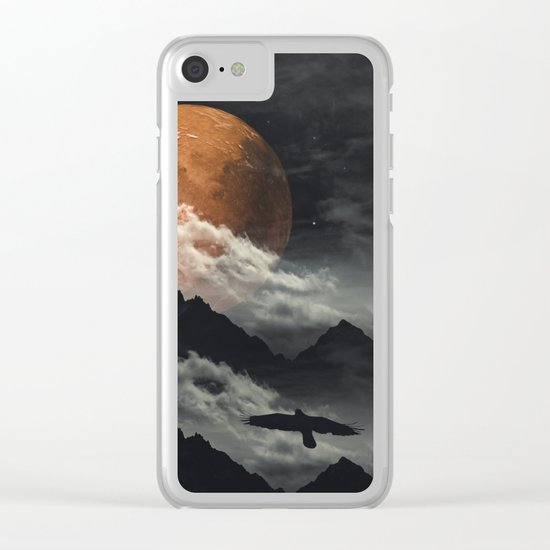 Spaces III - Mars above mountains Clear iPhone Case