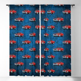 Classic Muscle Car Cartoon Blackout Curtain