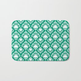Emerald Damask Bath Mat
