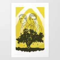 true detective Art Prints featuring True Detective by Gavin Guidry