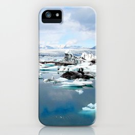 Watercolor Landscape, Jokulsarlon 01, Iceland iPhone Case