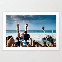Kelly Slater Pipe Masters Victory - Hawaii - 2013 Art Print