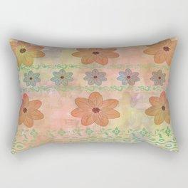 Orange floral pattern Rectangular Pillow