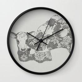 Cow Mandala Wall Clock