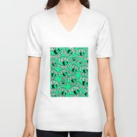 tame impala V-neck T-shirts featuring TAME IMPALA EYES2 by Queen Lizard