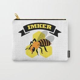 Vintage Retro Imker Design Für Bienen Flüsterer Carry-All Pouch
