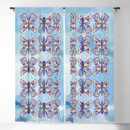 Butterfly I on a Summer Day Blackout Curtain