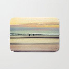 an evening at the beach Bath Mat