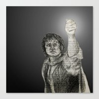 lotr Canvas Prints featuring LotR - The Light of Earendil by Faye Sutherland