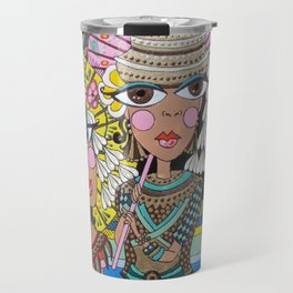 Two Girls with Parasols Travel Mug